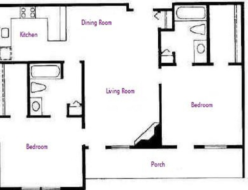 Floor plans at the nordic inn resort discounted rates for Square footage of a room for flooring